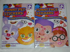 MAKE YOUR OWN FACES PETS OR FUNNY FACES STICKERS ACTIVITY SCHOOLS CRAFT GAMES