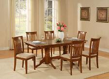 NAPO7-SBR 7 PC dining room set Table with a Leaf and 6 chairs for dining