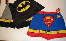 Super Hero Caped Boxers Superman Man of Steel Underwear with Removable Cape