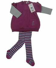 BNWT Baby Toddler Girls 3 Piece Pullover Jumper Tights Winter Set - Size 1/18m