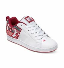 DC Shoes Women's Court Graffik SE Shoes - White/Green Plaid (Tgp)