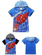 Boy's Spiderman Cotton Short-sleeved Printed  Cartoon T Shirt Child's Clothes