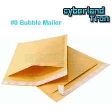 50x #0 Extra Wide Bubble Mailers Padded Envelops Kraft Shipping Bag CD DVD
