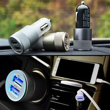 Dual 2 Port 2.1A & 1A USB Car Charger Charging For iPhone 5 6 Samsung GPS MP4