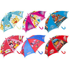 DISNEY Umbrella Childrens Cars Princess Mickey Pooh Planes Minnie 68cm NEW