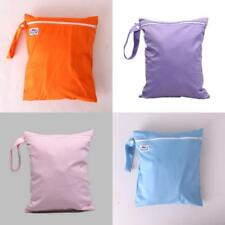 Baby Nappy Reusable Washable Wet Dry Cloth Zipper Waterproof Diaper Bag