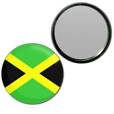 Jamaica Flag - Round Compact Glass Mirror 55mm/77mm BadgeBeast