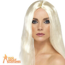 Ladies Long Straight Blonde Star Style Wig Fancy Dress Costume Accessory New