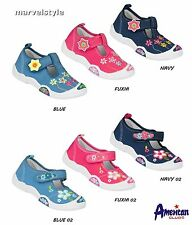 BABY GIRLS CANVAS SHOES TRAINERS NURSERY SLIPPERS UK size 4-7.5 /EUR 21-25 FAB !