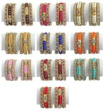 Indian Bollywood Costume Wedding Wear Style Bangles Bracelet Set Fashion Jewelry