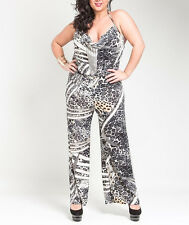 Plus Size Women jumpsuits romper halter thin summer casual party 1X 2X 3X
