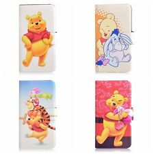 Funny Cartoon Winnie the Pooh Tigger PU Leather Flip Case Cover For Samsung 4