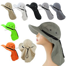 Boonie Fishing Hiking Outdoor Brim Neck Cover Bucket Sun Flap Hat Bush Cap New