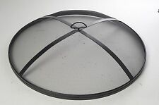 Round Fire Pit Cover Spark Guard Mesh Screen