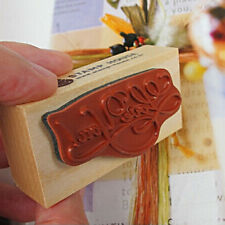 Good Wooden Rectangle Stamp Rubber Craft Favour Scrapbooking Thank You Love CN