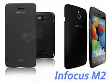 FOR INFOCUS M2 AAA QUALITY FLIP DIARY CASE COVER POUCH / SCREEN GUARD