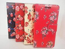 Floral Flower Flip Wallet Leather Case Cover Book Pouch  For Apple iPhone 5c New