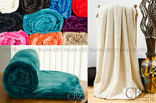 Luxury Soft Mink Faux Fur Throw Blanket Bed Sofa Home