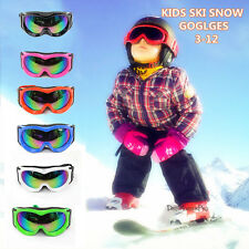 Kids Boys Girls SKI Snow GOGGLES anti fog Tinted Mirror Lens UV proctection