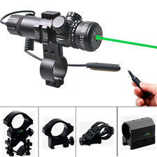 Tactical Green Dot Laser Sight+Remote Switch W/Optional Picatinny Mount F Rifle