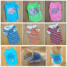 Summer Pet Puppy Shirt Small Dog Pet Clothes Vest T Shirt 8 Types ,Free Shipping