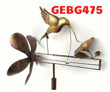 Classic Hummingbird Whirligig. Wind Spinner Hummingbird bobs turns in wind GE475