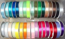 "Single Satin Ribbon 38mm 1.5"" wide Assorted Colours 2m, 5m 10m lengths"