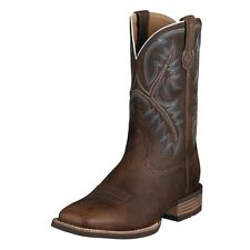 ARIAT Quickdraw Men's Western Brown Oiled Square Toe Cowboy Boots 10006714 NIB