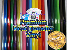 "EasyWeed Heat Transfer Vinyl 10"" x 12"", 1, 3, 5,10, 25 Yds Roll, Heat Press"