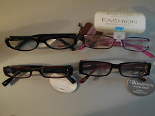 Lot of 4 Pairs +2.00 Foster Grant Ladies Handcrafted Fun Frames Reading Glasses