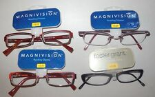 Lot of 4 Pairs +2.25 Foster Grant Ladies Handcrafted Fun Frames Reading Glasses