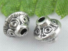 Wholesale 48/100Pcs Tibetan Silver(Lead-Free)Round  Rose Spacer Beads 6x7mm