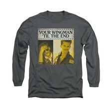 TOP GUN TIL THE END Licensed Men's Long Sleeve Graphic Tee Shirt SM-2XL