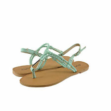 Women's Shoes Qupid Athena 868A Braided T-Strap Slingback Sandal Menthol *New*