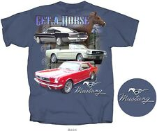 """1964 -1966 Ford Mustang, Mustang Convertible & Fastback GT T-shirt """"Get-A-Horse"""""""