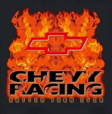 Chevy Racing - Bowtie T-shirt with Flames - 100% Cotton - Pre-shrunk