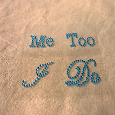 New Blue I Do/Me Too Bridal/Groom Shoe Stickers Wedding Accessory Wedding Decals