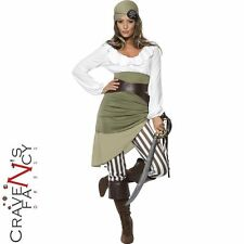 Shipmate Sweetie Pirate Costume Caribbean Ladies Fancy Dress Outfit UK 8 - 22