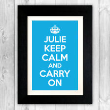 Personalised print poster / Keep calm and carry on personalised print VA046