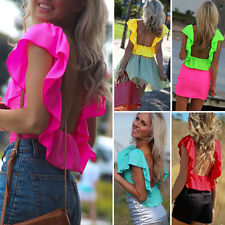 New Fashion Women's Loose Sleeveless Chiffon Casual Blouse Shirt Tops&Blouse