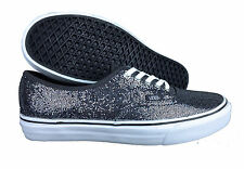 VANS. Authentic. Glitter. Grey / Dots. Womens Shoe. Mens US Size 9.5.
