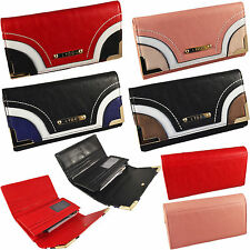 LYDC London Designer Faux Leather Ladies Purse Wallet Colours Gift Girls Boxed