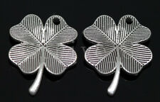 Lots 40/240pcs Tibet Silver leaves Jewelry Finding DIY Charms Pendant 23x17.5mm