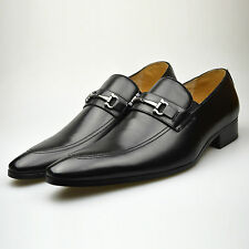 Mens Smart Dress Leather Italian Shoes Black Casual Formal Loafers 6 7 8 9 10 11