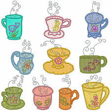 * TEATIME 2 * Machine Applique Embroidery Patterns  * 10 Designs