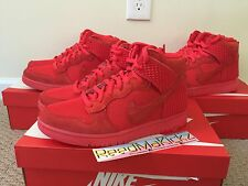 Nike Dunk Hi CMFT Premium Red October Mens sizes Limited Released #705433 601