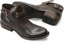 Womens Born Ankle ZipOn Boot Jem Brown Castagno Oiled Suede D38623