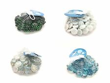 BUY 3 GET 1 FREE NEW DECORATIVE GLASS VASE PEBBLES 350g STONES ASSORTED COLOURS