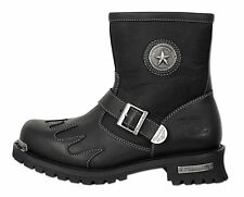 Men's Motorcycle Boots Biker 100% Genuine Leather Sizes 9-13 MB442
