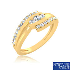 Certified Ring 0.28 Ct Diamond Ring 100% Certified 14K Hallmarked Gold Ring
